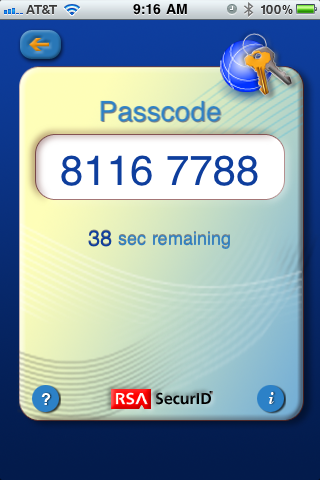 RSA SecurID Soft Token for iPhone – A Better Deployment