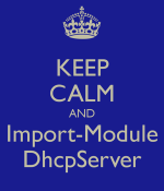Keep calm and import module dhcpserver